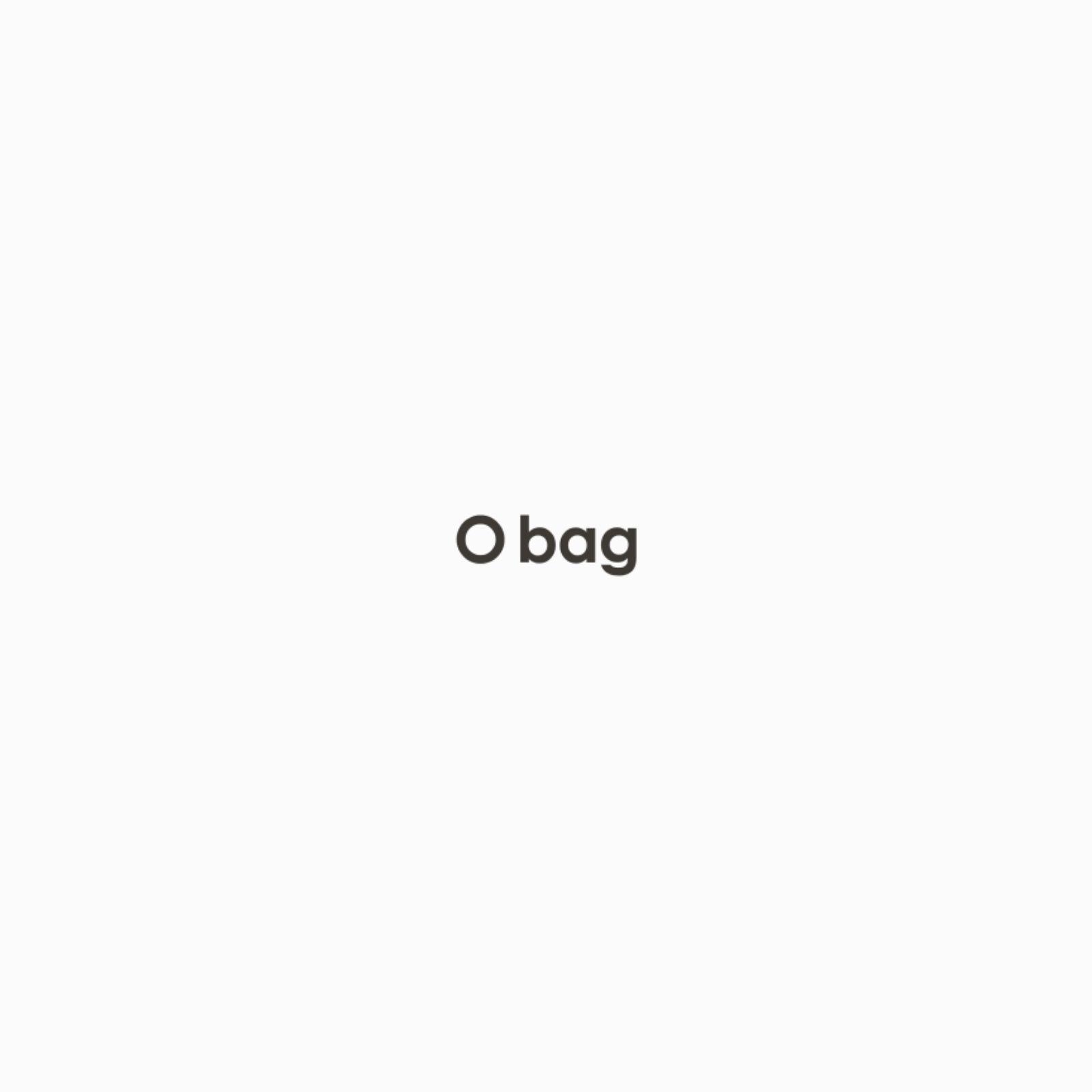 O bag mini grigio chiaro con bordo in eco lapin brinato